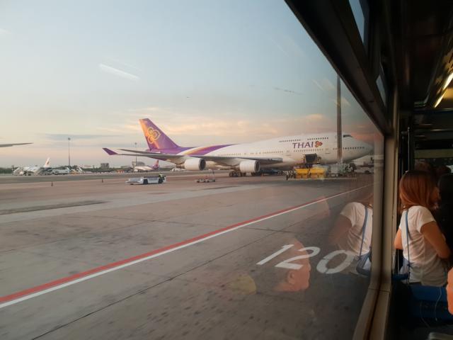 Unser Flugzeug in Frankfurt von Thai Airways