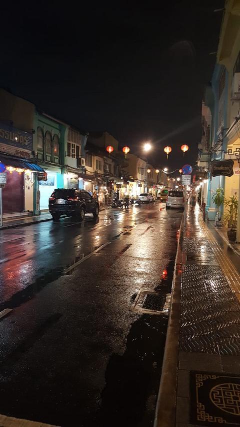 Phuket old Town bei Nacht