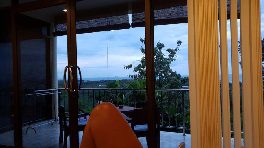 Aussicht aus unseren Zimmer in Koh Lanta
