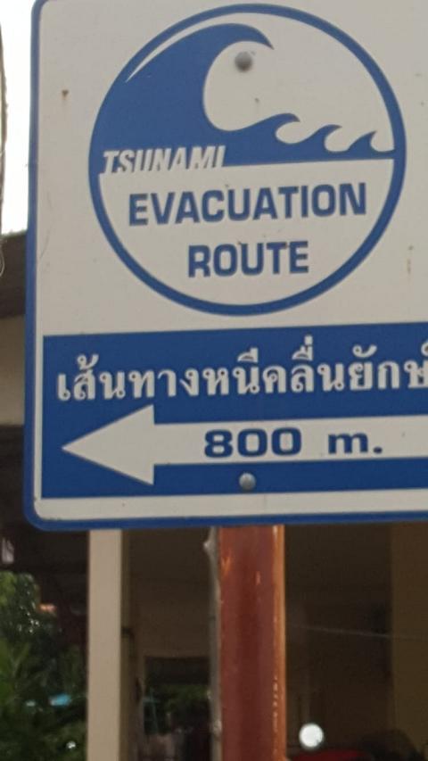 Tsunami Evacuation Route in Koh Lanta